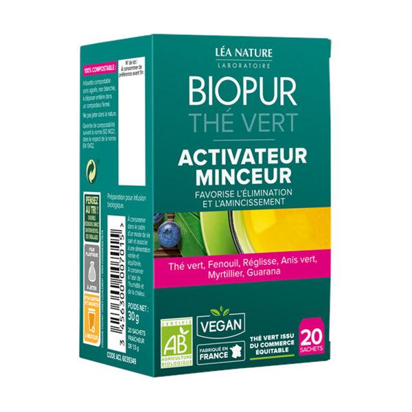 Biopur Thé Vert Activateur Minceur 20 sachets
