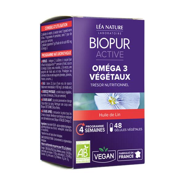 Biopur Active Oméga 3 Végétaux 48 gélules végétales