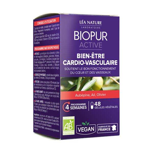Biopur Active Bien-Etre Cardiovasculaire Aubépine Ail Olivier 48 gélules végétales