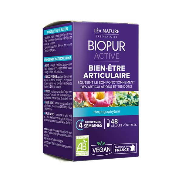 Biopur Active Bien-Etre Articulaire Harpagophytum 48 gélules végétales