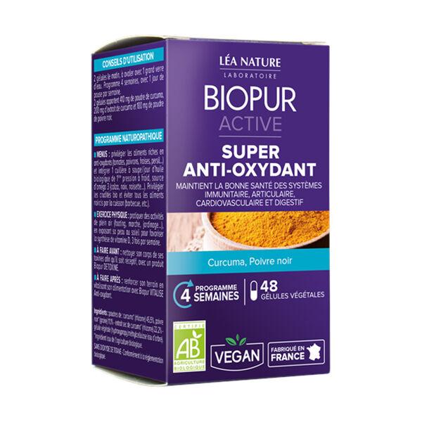 Biopur Active Super Anti-Oxydant Curcuma Poivre Noir 48 gélules végétales