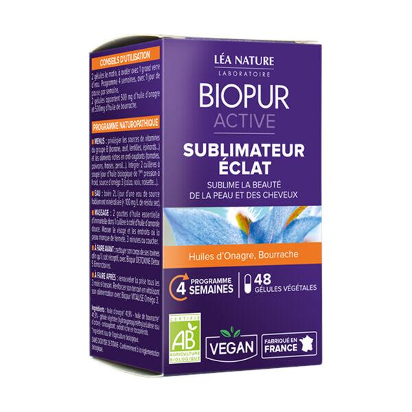 Biopur Active Sublimateur Eclat Onagre Bourrache 48 gélules végétales
