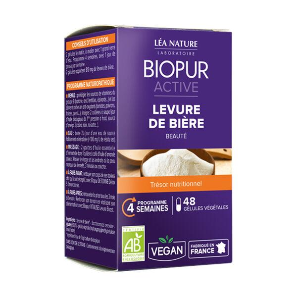 Biopur Active Levure de Bière Beauté 48 gélules végétales