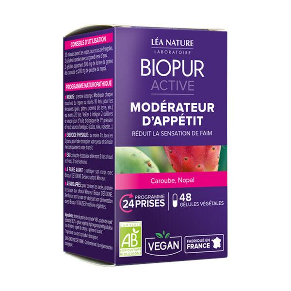 Biopur Active Modérateur d'Appétit Caroube Nopal 48 gélules végétales