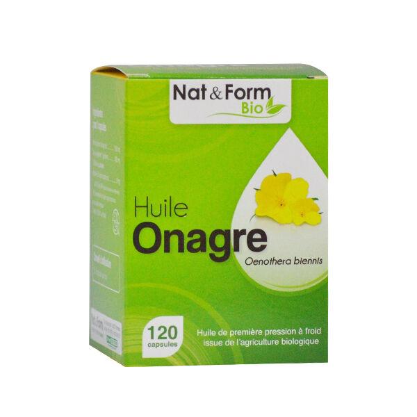 Nat & Form Bio Onagre + Vitamine E 120 capsules