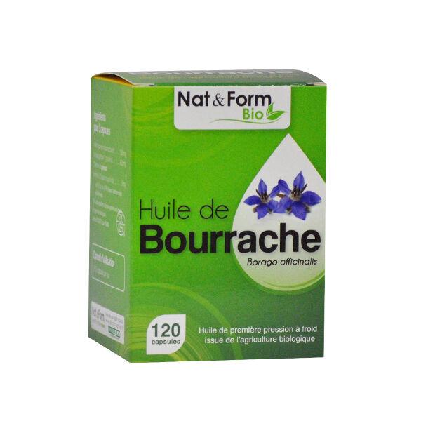 Nat & Forme Bio Bourrache + Vitamine E 120 capsules