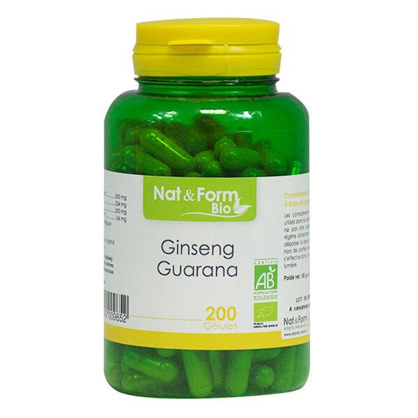 Nat & Form Bio Ginseng Guarana 200 gélules