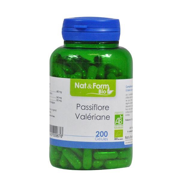 Nat & Form Bio Passiflore - Valériane 200 gélules végétales