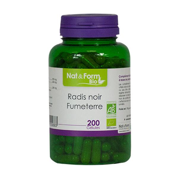 Nat & Form Bio Radis Noir - Fumeterre 200 gélules