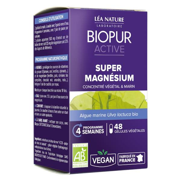 Biopur Active Super Magnésium 48 gélules végétales