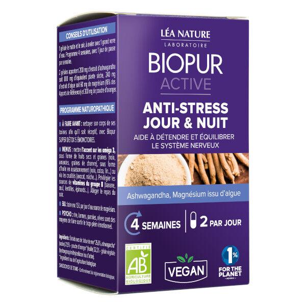 Biopur Active Anti-Stress Jour & Nuit 48 gélules végétales