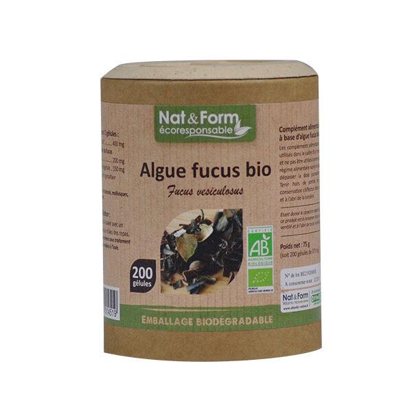 Nat & Form Ecoresponsable Algue Fucus Bio 200 gélules végétales