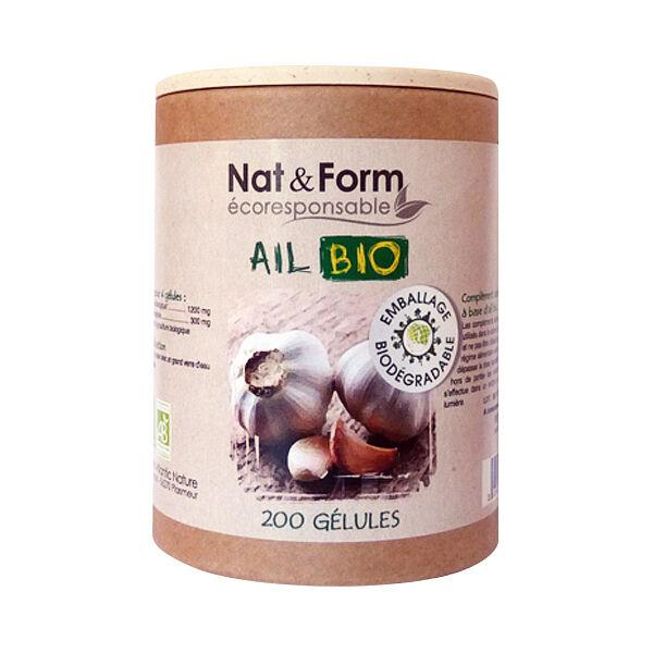 Nat & Form Bio Ail Bulbe 200 gélules végétales