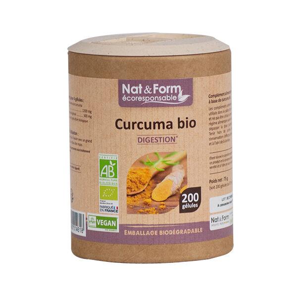 Nat & Form Eco Responsable Curcuma Bio 200 gélules
