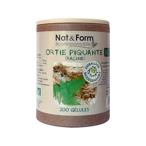 Nat & Form Bio Ortie Piquante Racine 200 gélules végétales