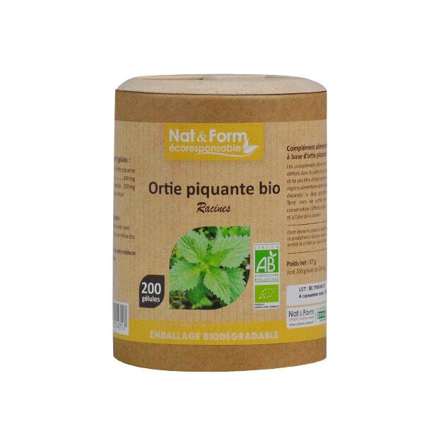Nat & Form Eco Responsable Ortie Piquante Racine Bio 200 gélules végétales