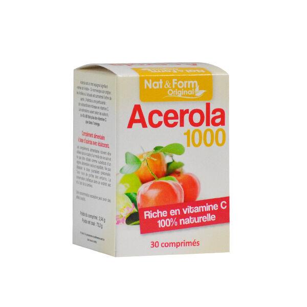 Nat & Form Acérola 1000 30 comprimés