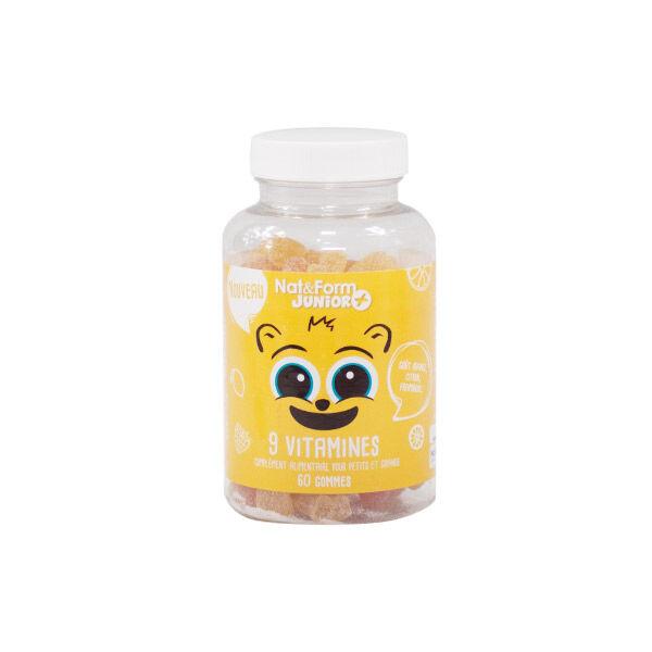 Nat & Form Junior 9 Vitamines 60 oursons
