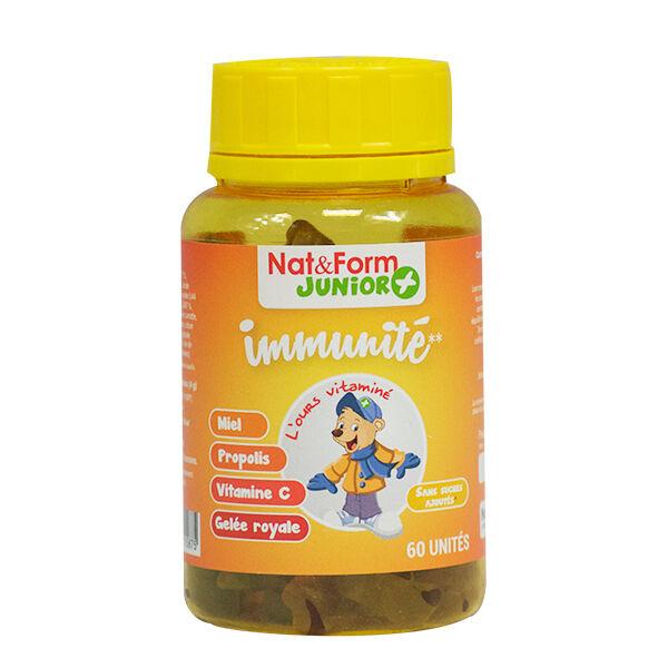 Nat & Form Junior Ours Immunité 60 oursons