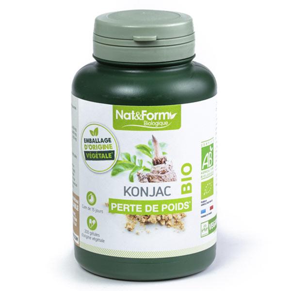 Nat & Form Bio Konjac 200 gélules végétales