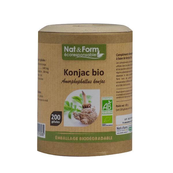 Nat & Form Eco Responsable Konjac Bio 200 gélules végétales