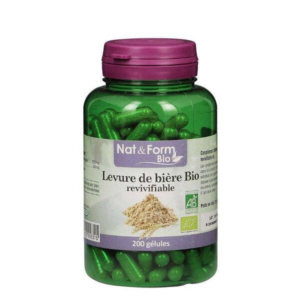 Nat & Form Bio Levure de Bière Revivifiable 200 gélules végétales