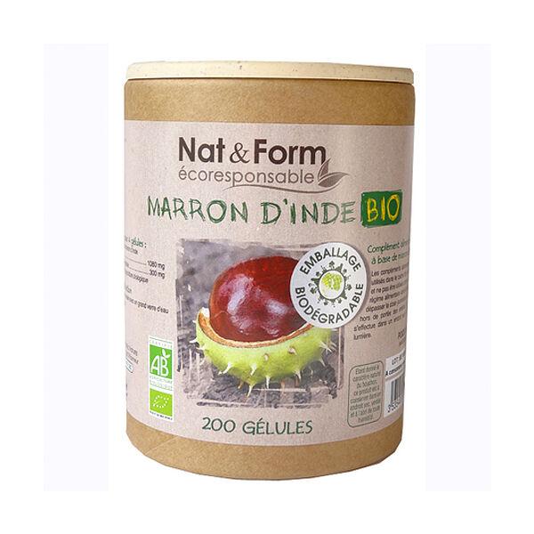 Nat & Form Bio Marron d'Inde 200 gélules végétales