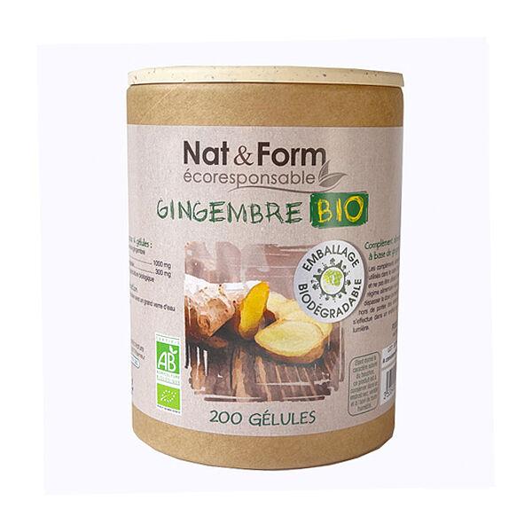 Nat & Form Bio Gingembre 200 gélules végétales