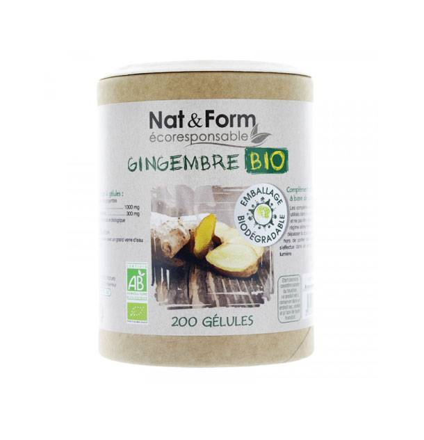 Nat & Form Eco Responsable Gingembre Bio 200 gélules