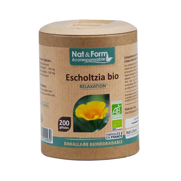 Nat & Form Eco Responsable Escholtzia Bio 200 gélules