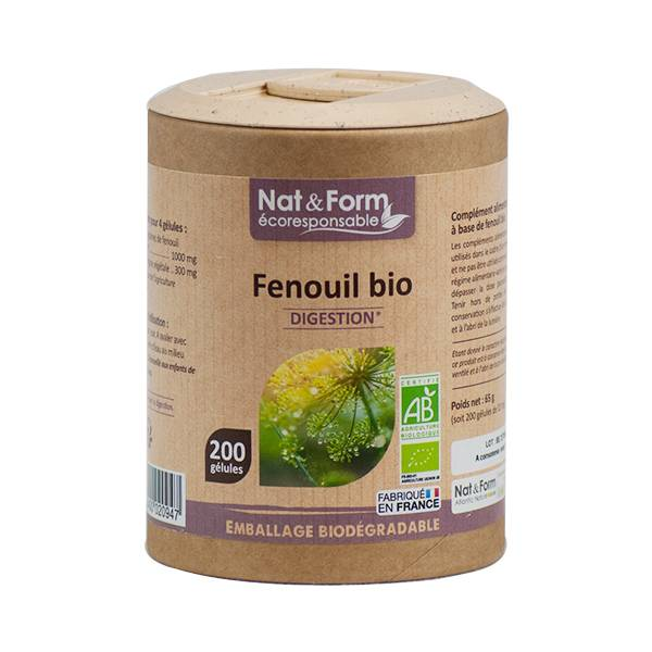 Nat & Form Eco Responsable Fenouil Bio 200 gélules