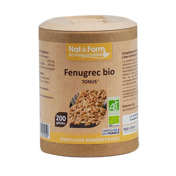 Nat & Form Eco Responsable Fenugrec Bio 200 gélules
