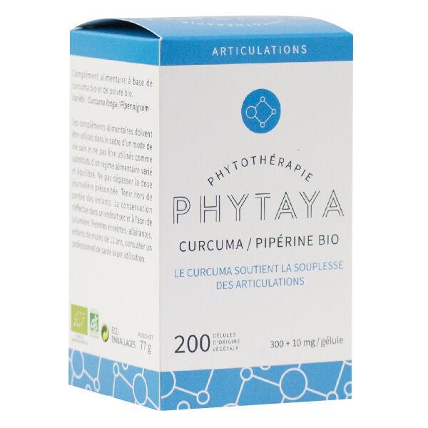 Phytaya Curcuma Pipérine Bio 200 gélules
