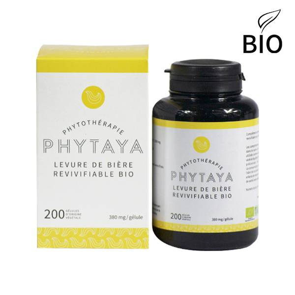 Phytaya Levure de Bière Revivifiable Bio 200 gélules