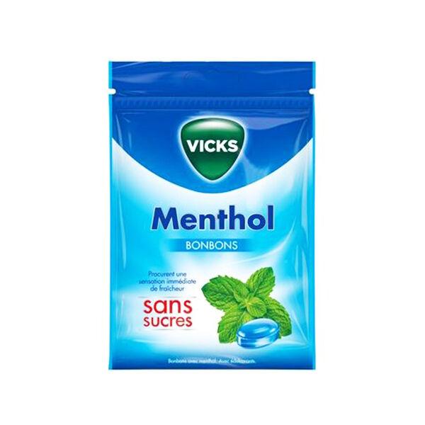 Vicks Bonbon Menthol sans Sucre 72g