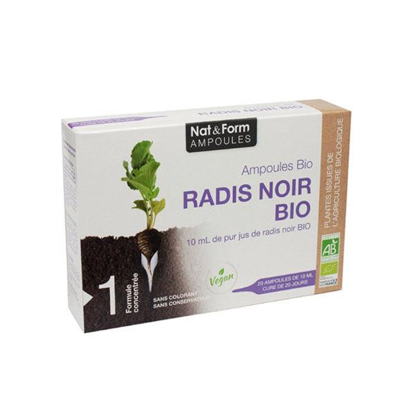 Nat & Form Radis Noir Bio 20 ampoules