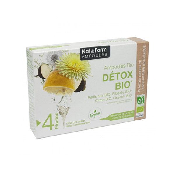 Nat & Form Détox Bio 20 ampoules