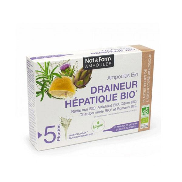 Nat & Form Draineur Hépatique Bio 20 ampoules