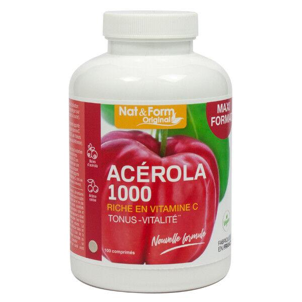 Nat & Form Acérola 1000 100 comprimés