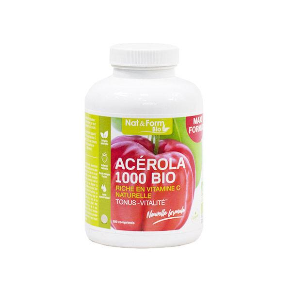 Nat & Form Acérola 1000 Bio 100 comprimés