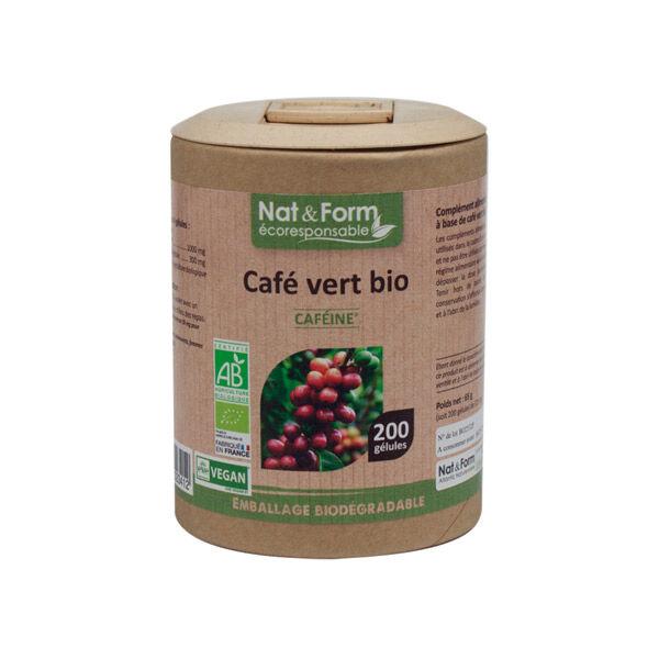 Nat & Form Eco Responsable Café Vert Bio 200 gélules