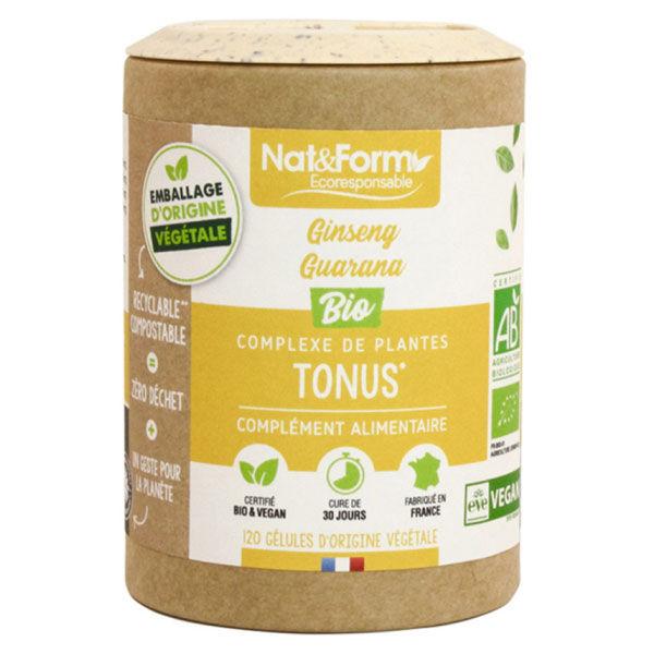 Nat & Form Eco Responsable Complexe Tonus Bio 120 gélules