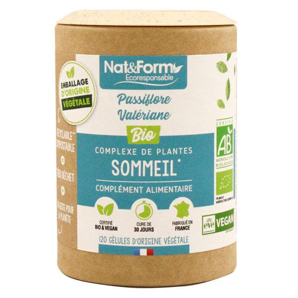 Nat & Form Eco Responsable Complexe Sommeil Bio 120 gélules