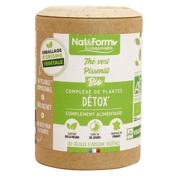 Nat & Form Eco Responsable Complexe Détox Bio 120 gélules