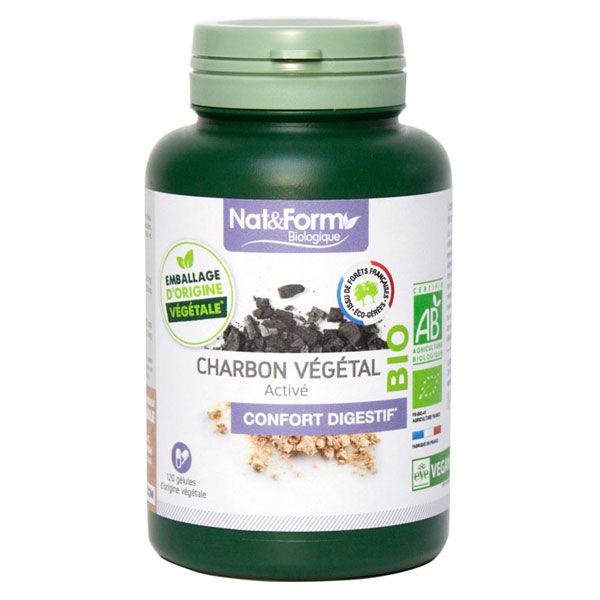 Nat & Form Charbon Végétal Bio 120 gélules