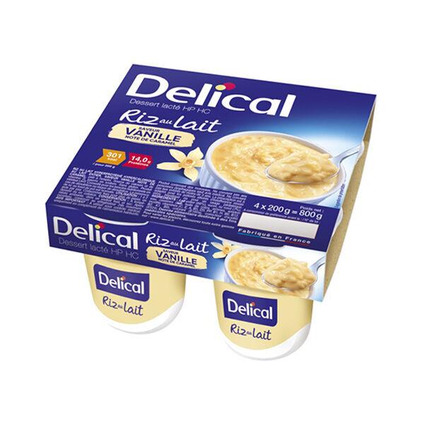Delical Dessert Lacté HP HC Riz au Lait Vanille Note Caramel 4 x 200g