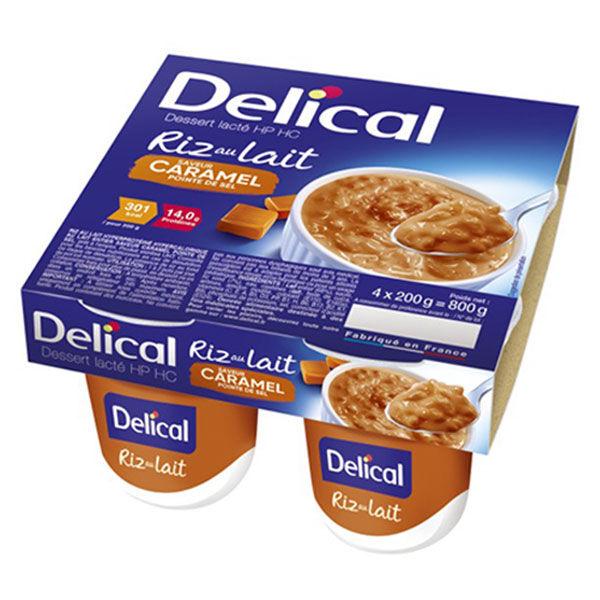 Delical Dessert Lacté HP HC Riz au Lait Caramel Pointe de Sel 4 x 200g