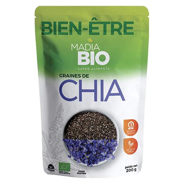 Madia Bio Super Aliments Chia Graines 200g