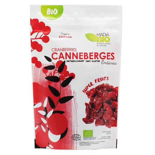 Madia Bio Super Aliments Canneberges 150g
