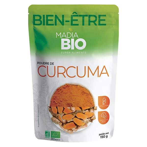 Madia Bio Super Aliments Curcuma Poudre 150g